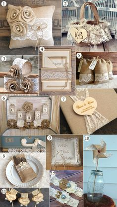 diy burlap and lace wedding photo album | Burlap And Lace Wedding Ceremony 12 burlap and lace wedding