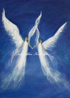 Angel Angels Art Print Religious Guardian by LeslieAllenFineArt, $15.00
