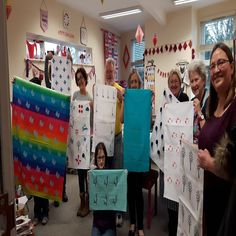 A Karen Lewis screenprinting workshop, held in the northwest of England in the bright and colourful studio space of Stitchscape in Newton-le-Willows.
