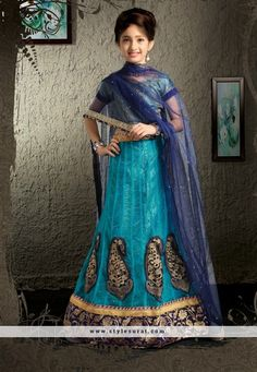 Girls Lehenga Choli in Net, Shaded Blue Color Kids Lehenga Choli, Lehenga Style Saree, Sari, Lehenga Blouse, Sarees Online India, Lehenga Choli Online, Garba Dress, Indian Dresses Online, Western Wear For Women