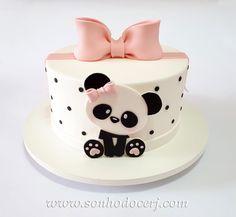 Panda Bear Cake, Bolo Panda, Panda Cakes, Teddy Bear Cakes, Panda Birthday Cake, Baby Birthday Cakes, Panda Decorations, Panda Baby Showers, Panda Party