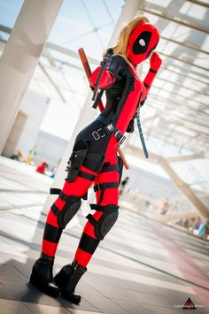 Lady Deadpool by GhiandaiaCosplay on DeviantArt - That was cool and exploded. Lady Deadpool by GhiandaiaCosplay - Deadpool Cosplay, Lady Deadpool, Cosplay Marvel, Deadpool Movie, Deadpool Costume Lady, Deadpool Humor, Deadpool Facts, Deadpool Symbol, Deadpool Cake