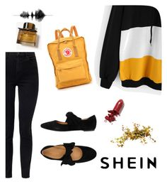 """""""Shein #4"""" by dorothysmile on Polyvore featuring J Brand, Burberry, Fjällräven and LAQA & Co."""