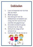 poster werkvorm 'dobbelen' lesmateriaal en andere onderwijstips van juf Jantine