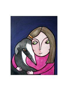 AKR.ZeitRaub -Take Your Time And Hug Your Dog- von JunieMOND auf DaWanda.com