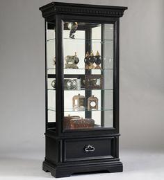 Curios Brookfield Sliding Front Door Curio Cabinet By Pulaski Furniture    Suburban Furniture   Curio Cabinet