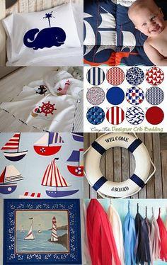 nautical baby nursery (my treasury)  https://www.etsy.com/treasury/MTkyOTQ1MzF8MjcyMTY0NzQzNw/nautical-baby-nursery
