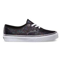 Vans / Shades of Black Diamond / Product: Iridescent Glitter Authentic