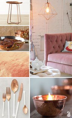 See the products we've spotted that are kissed with copper! Featured in Inside Design: Kissed with Copper by Pear Tree