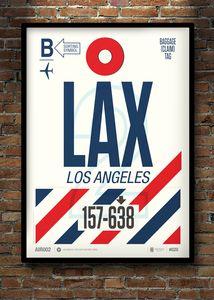 Flight Tag Prints - LA