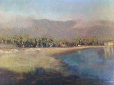 Santa Barbara Coast, series 1.  12x16 in.  oil on canvas.  for purchase or commission:  email   sam@samuelsmithart.com