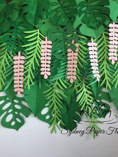 Tropische Blätter Hintergrund / Dschungel party Hintergrund /