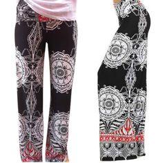 2017 Fashion Women Summer Thin Pants Wide Leg Trousers Loose Casual Flower Printed Long Pants Female Pants Pantalones Mujer #Affiliate