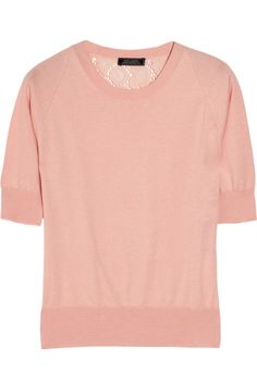 Nina Ricci | Lace-backed cotton and cashmere-blend top