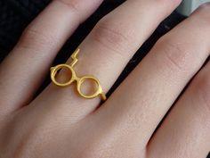 Gold 14K Harry Potter Wedding Ring by thinkupjewel
