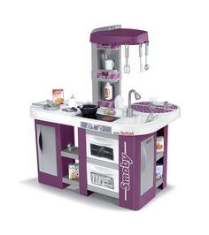 cuisine rose pour enfant en bois 61x34x98cm : cuisine & vaisselle