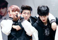 BTS V, Rap Monster, Jungkook © HIDE AND SEEK | Do not edit.