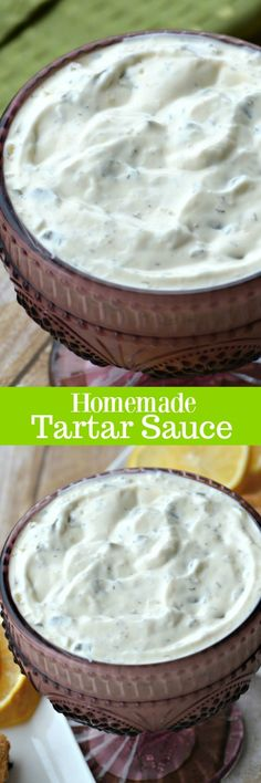 There's not a lot you can say about tartar sauce, other than it tastes pretty darn good on most seafood. This Homemade Tartar Sauce is smooth, creamy with a heaping helping of fresh dill and an extra boost from a little dill pickle relish. Best Tartar Sauce Recipe, Tarter Sauce, Homemade Tartar Sauce, Sauce Recipes, Dill Pickle Tartar Sauce Recipe, Side Dish Recipes, Fish Recipes, Seafood Recipes, Great Recipes