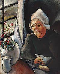 Oude boerin voor het raam (Oude vrouw) Charley Toorop