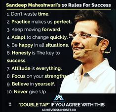 Positive Quotes : QUOTATION - Image : As the quote says - Description Regrann from - Sandeep Maheshwari's 10 rules for succes - Apj Quotes, Wisdom Quotes, True Quotes, Motivational Quotes For Success, Positive Quotes, Inspirational Quotes, Sandeep Maheshwari Quotes, Study Motivation Quotes, Study Quotes