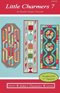Table Runner And Placemats, Quilted Table Runners, Quilted Table Runner Patterns, Charm Square Quilt, American Patchwork And Quilting, Little Charmers, Place Mats Quilted, Quilted Table Toppers, House Quilts