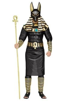 In this Adult Anubis Costume you will be transformed in to the Egyptian god of the afterlife. You hold all the power in determining who shall pass from the world of the living on to the afterlife. Now, how will you use it?!?