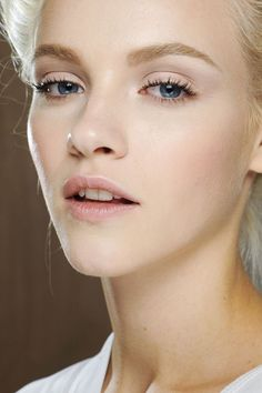 pretty pale hues... i think they work because of the delicately placed and blended crease color and strong brows, giving definition to the entire face
