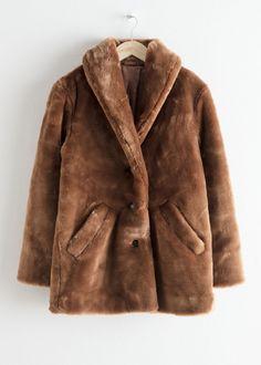 sheart 9 Faux Fur Collar Zipper Short Outweat Coat
