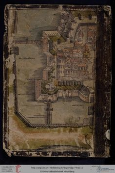 """""""Wittenberg"""", 1546/56, Historischer Sammelband, Vorderdeckel, Heidelberger historische Bestände, Cod. Pal. germ. 774"""
