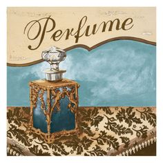 Bath Accessories III - Blue Perfume Giclee Print by Gregory Gorham at Art.com