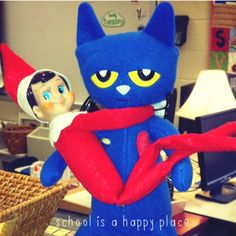 School Is a Happy Place: Pete the Cat Saves Christmas: Literacy and Math Freebies