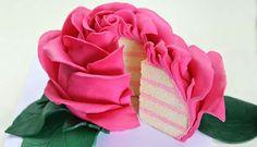 Cake Style: Giant Rose Cake (made with fondant)