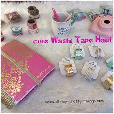 Erin Condren life Planner Haul: cute washitape - www.all-my-pretty-things.com