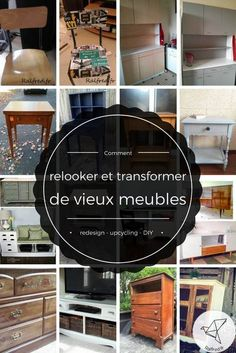 Comment relooker et transformer des vieux meubles DIY How to revamp and transform old DIY fur Distressed Furniture Painting, Painted Furniture, Upcycled Furniture, Diy Furniture, Vintage Home Decor, Diy Home Decor, Mobile Home Makeovers, Do It Yourself Furniture, Ikea