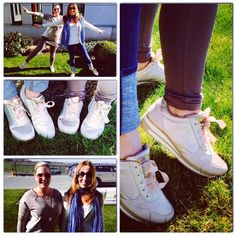 Favorite Shoes of the week : Guess Sneakers by Amélie the Shop Manager of Waterloo and Fatima our District Manager. #maniet #luxus #manietluxus #guess #favoriteshoes