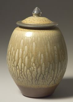 Lidded jar by Cedar Creek studio artist, Brad Tucker.