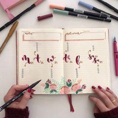 """2,004 Likes, 47 Comments - Bullet Journal & Studygram (@mylittlejournalblog) on Instagram: """"Esta semana me he adelantado para compartir con vosotros el proceso de decoración del bullet…"""""""