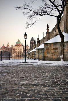 Kampa in winter, Prague