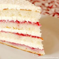 raspberry lemon coconut cake - I wonder if I could make this with coconut palm sugar and coconut oil...