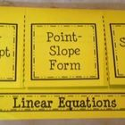 This foldable is seperated into three tabs:  -Slope-Intercept Form -Point-Slope Form -Standard Form  Under each tab, students will write the form o...