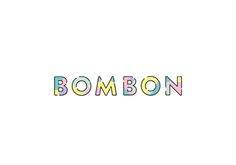 Fuzz Studio - BOMBON logo logotype sweets candy candies, kids stuff colorful typography lettering bom bon