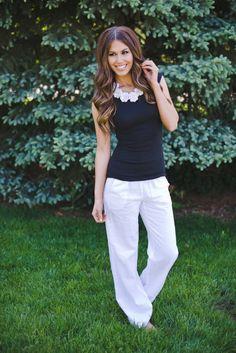 Dottie Couture Boutique - Linen Pants-White, $39.00 (http://www.dottiecouture.com/linen-pants-white/)