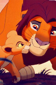 *SIMBA & MUFASA ~ The Lion King, 1994 - ummm no you uncultured swine. This is simba and his daughter Kiara. Jeez.