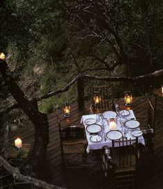 The natural wood deck and banisters mixed with the traditional dining set up? So cool