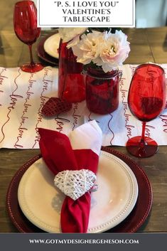 """Valentine's Day Tablescape – """"P. I Love You"""" - Valentine's Day Tablescape – """"P. I Love You"""" – got my designer genes on! Valentines Day Food, Valentines Day Tablescapes, Valentines Day History, Valentines Day Decorations, Valentine Day Crafts, Be My Valentine, Valentine Ideas, Valentine's Day Quotes, Best Valentine's Day Gifts"""