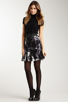 Vince Camuto Sportswear Elasticized Waist Rose Print Skirt by Women's Collection By The Men We Love on @HauteLook