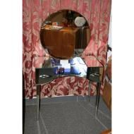 art deco mirrored vanity