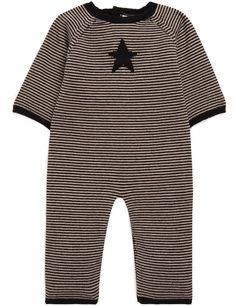 Combinaison en tricot rayée check :)