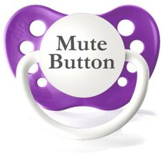 Amazon.com: Personalized Pacifiers Mute Button in Bright Pink: Baby