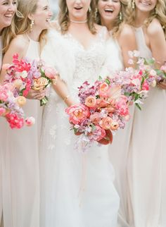 Romantic, whimsical, lush... this February wedding on a lake in Texas is chock full of our favorite things. No surprise they all involve flowers! A winding flower aisle ceremony just off the water, a pink checkered dance floor canopied by a fresh floral ceiling, mid-century modern lounges with rattan chairs, geometric bars and velvet upholstery... we should just let you see it with your own eyes, yes? Brides And Bridesmaids, Bridesmaid Bouquet, Wedding Bouquets, Blush Weddings, Magical Wedding, Whimsical Wedding, Dream Wedding, Wedding Trends, Wedding Designs